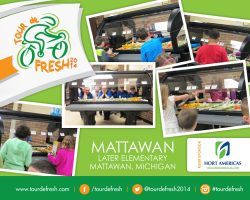 "Mattawan Later Elementary thanks ""Tour de Fresh"""
