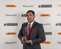 Shan Halamba CEO of RIOCOCO wins Stevie Gold Award