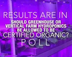 POLL: Should greenhouse or vertical farm hydroponics be allowed to be certified organic?