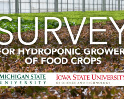 Survey for Hydroponic Growers of Food Crops by Michigan State University and Iowa State University